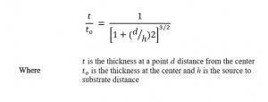Knudsen relation equation